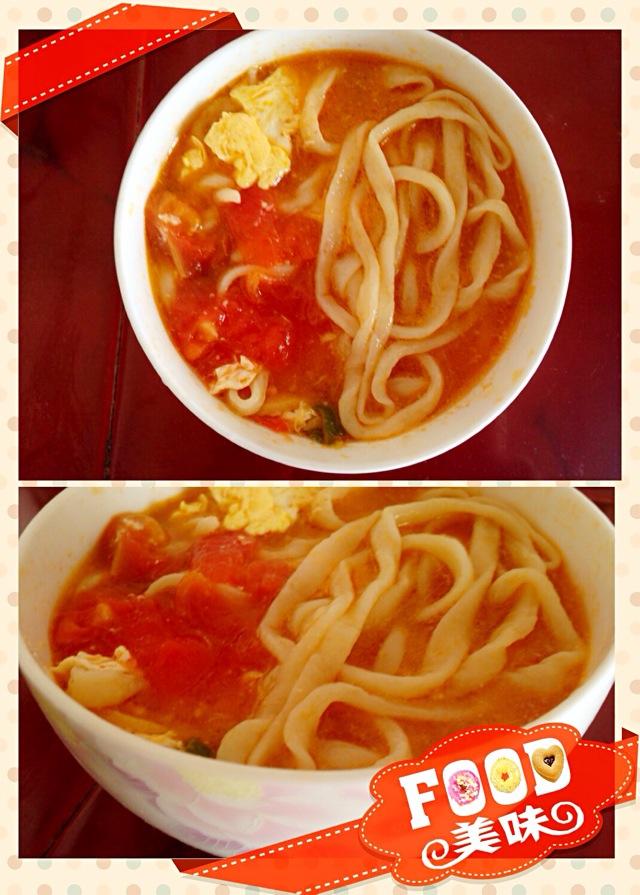 西红柿鸡蛋拉面的做法图解4