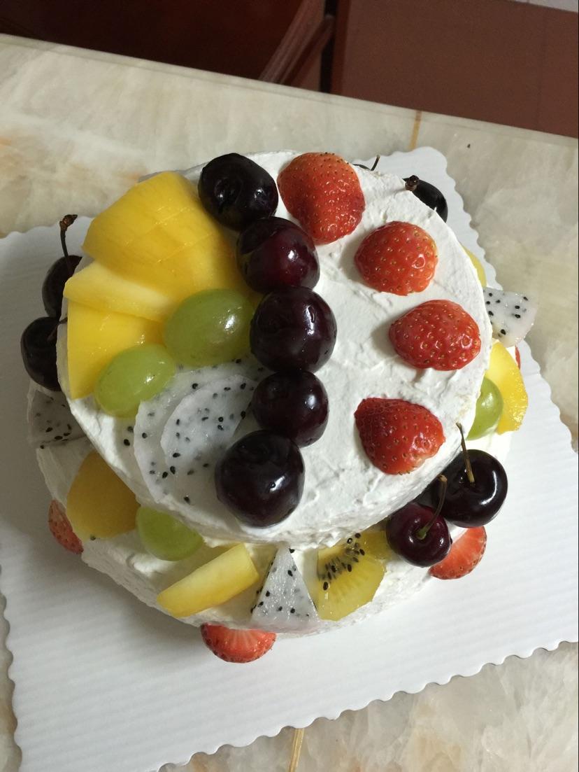 双层水果生日蛋糕(零基础秒变蛋糕师,超详细步骤!)