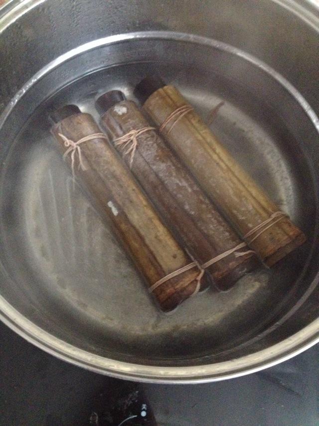 竹筒粽子的做法图解4