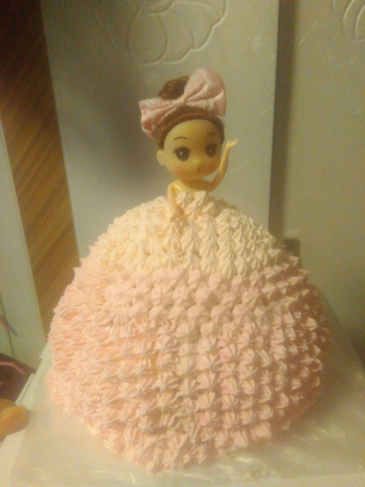 可爱公主蛋糕的做法_【图解】可爱公主蛋糕怎么做
