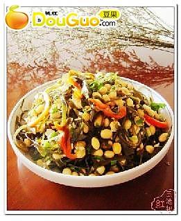 海带拌黄豆的做法