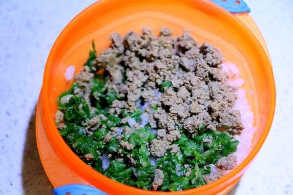 鸡肝青菜粥的做法