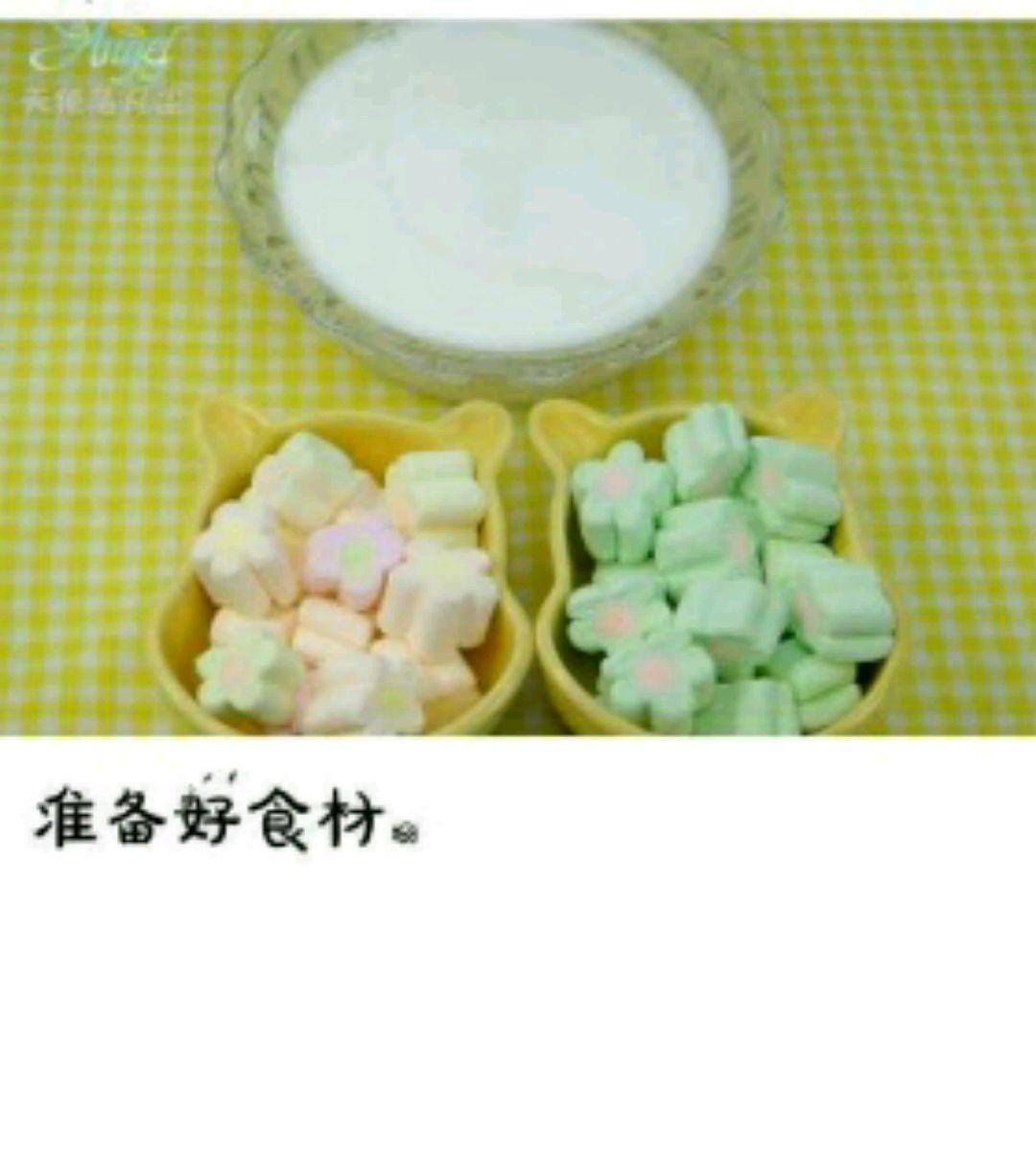 棉花糖制作冰激凌的做法步骤