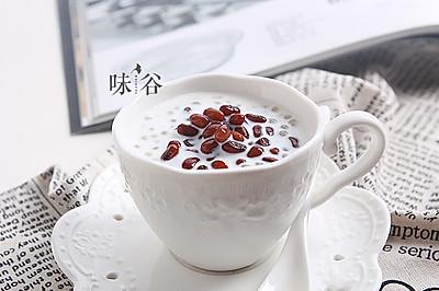 夏日甜品——红豆牛奶西米露