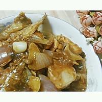 洋葱烧三文鱼