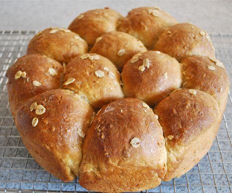 蜜糖燕麦面包的做法_【图解】蜜糖燕麦面包怎么做好吃
