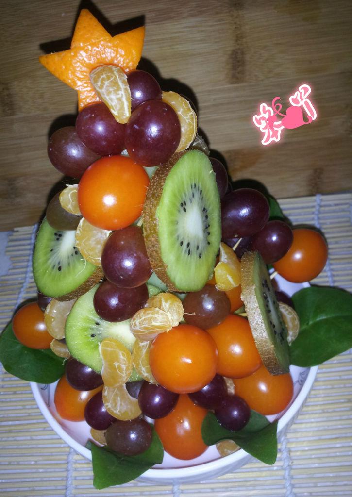 圣诞水果塔的做法_【图解】圣诞水果塔怎么做如何做