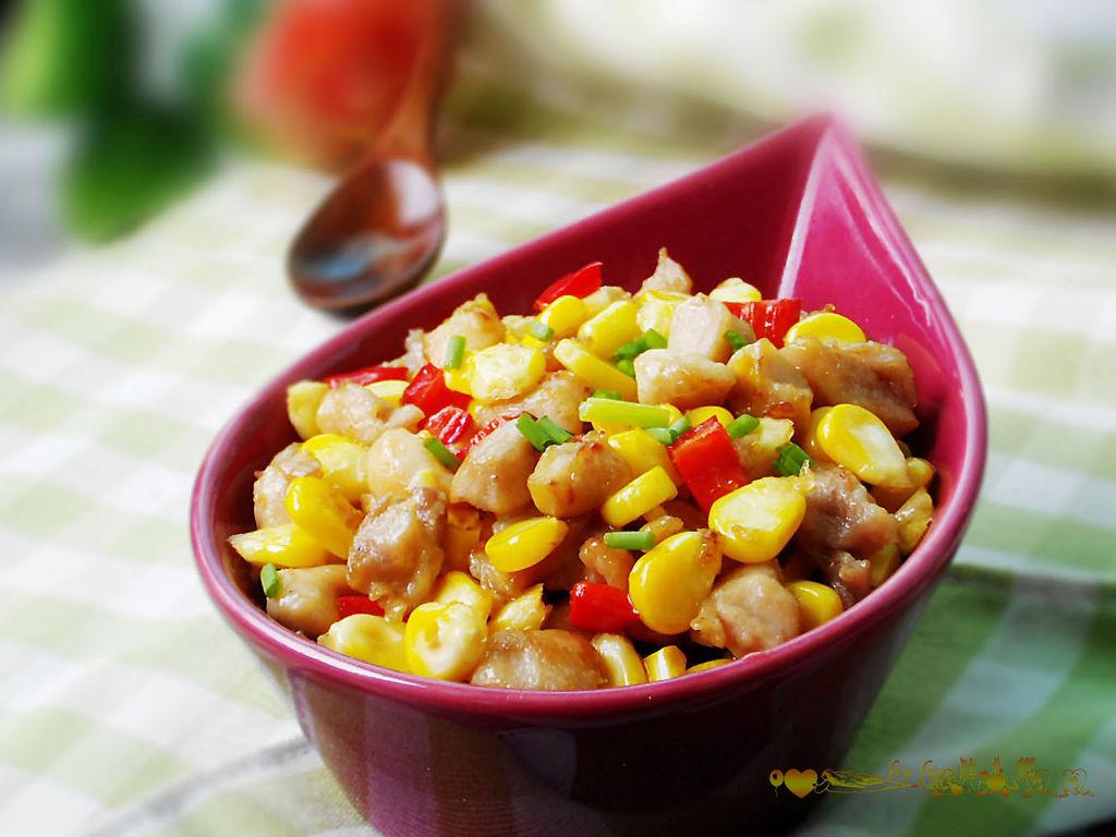 料酒适量 淀粉适量 玉米炒鸡丁的做法步骤 分类:        本菜谱的做法