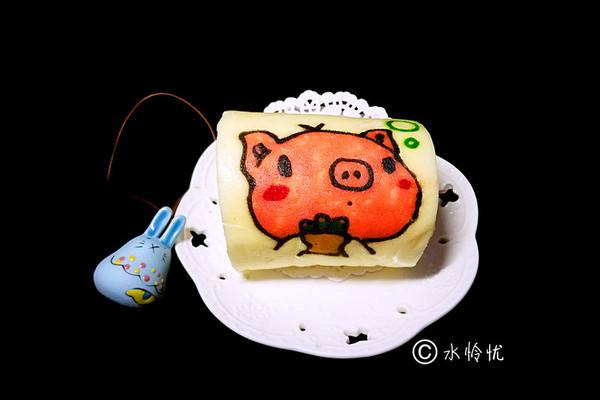 彩绘蛋糕卷(小猪)的做法