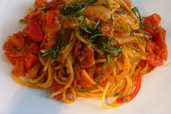 番茄蔬菜意面的做法