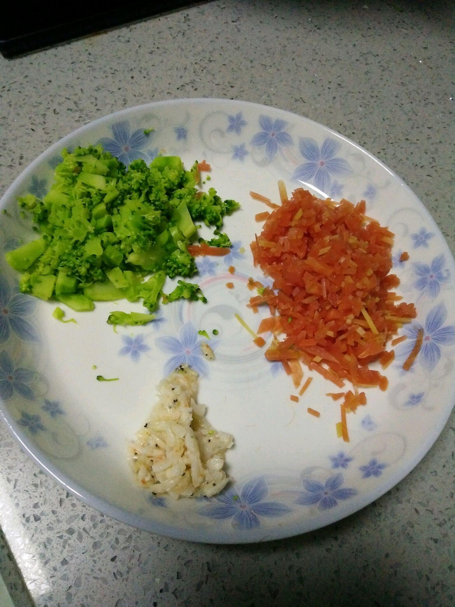 蔬菜蒸蛋饭的做法图解3