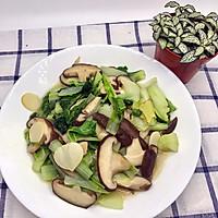 白菜炒香菇