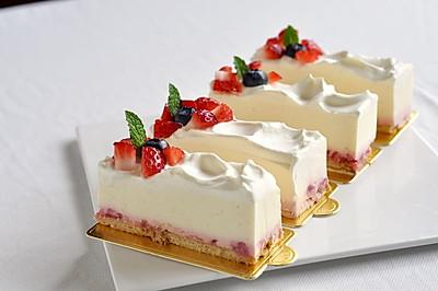 草莓冻芝士蛋糕(视频菜谱)