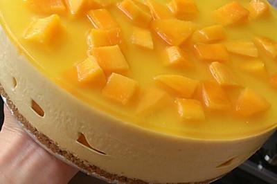 芒果冻芝士蛋糕8寸#东菱魔法云面包机#