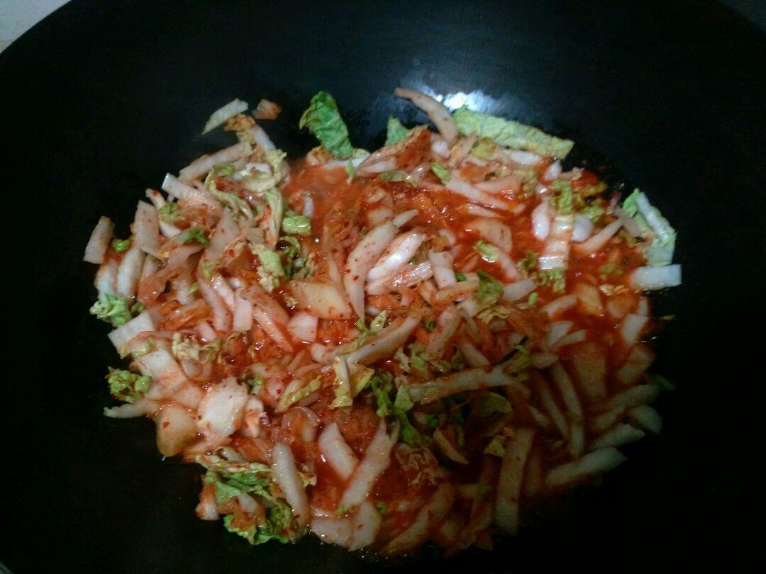 芝士泡菜炒饭的做法图解1