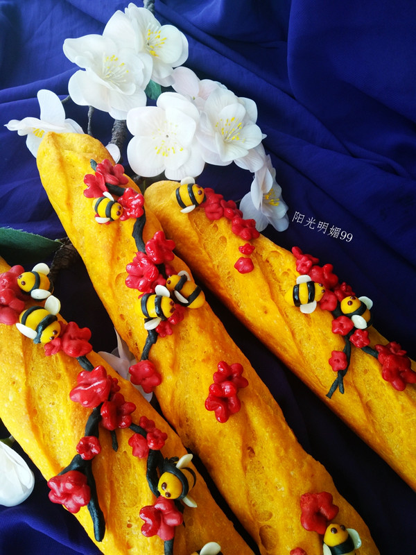 樱花法棍面包