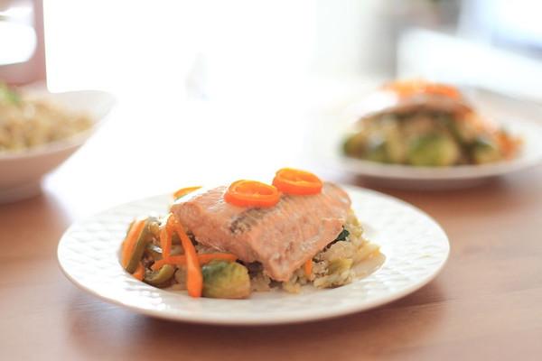 法式烤纸蒸鱼的做法