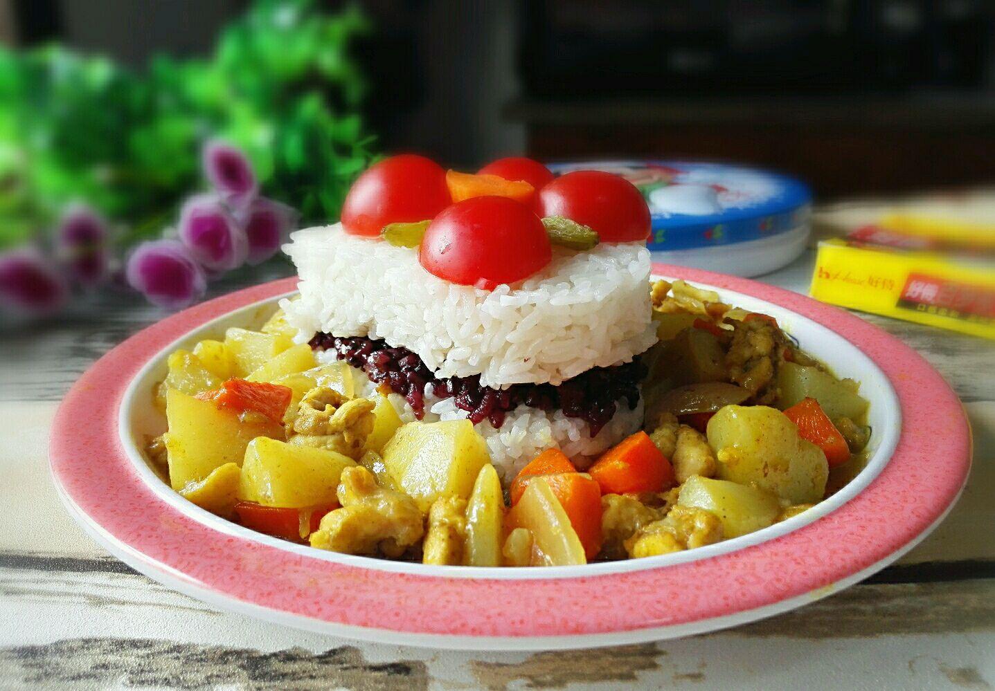 这一个米饭蛋糕宝宝吃不完,可以和他共享,真正的亲子饭哦!