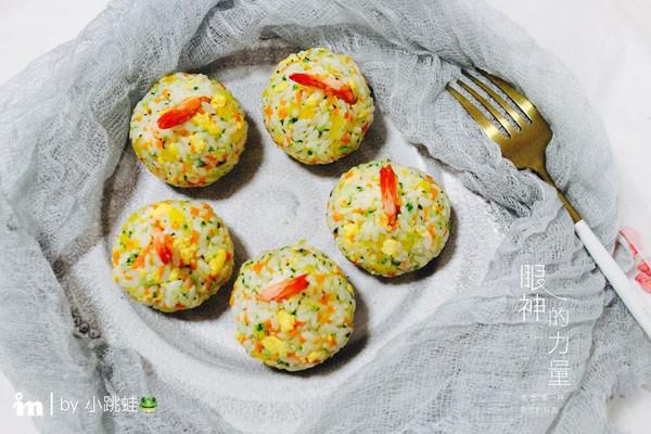 鲜虾时蔬饭团的做法