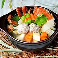 秋蟹摄生锅