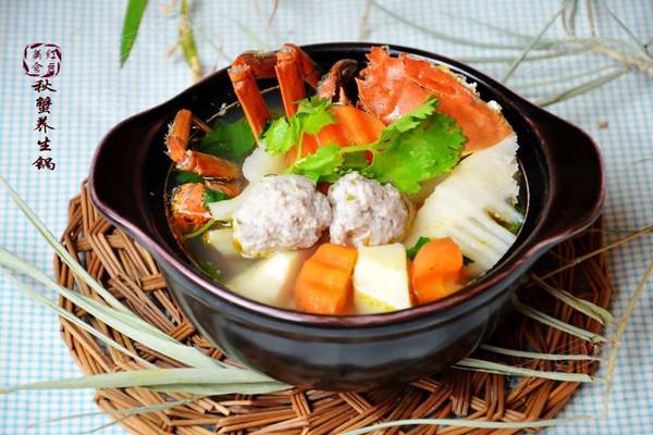 秋蟹养生锅的做法