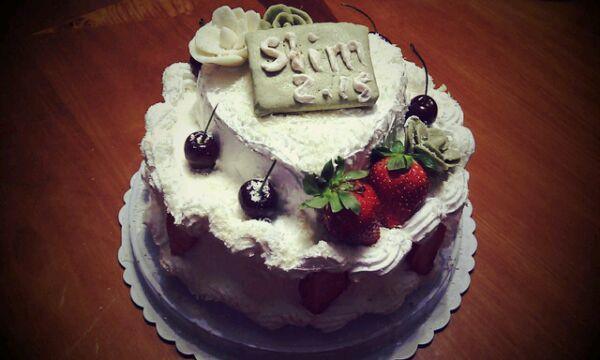 【装饰蛋糕】双层生日蛋糕的做法