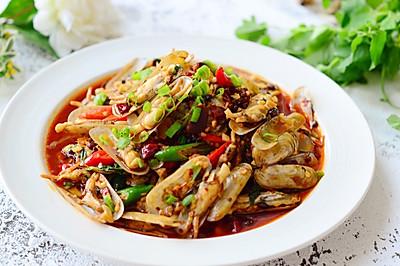 鲜味辣炒蛏子-下酒菜