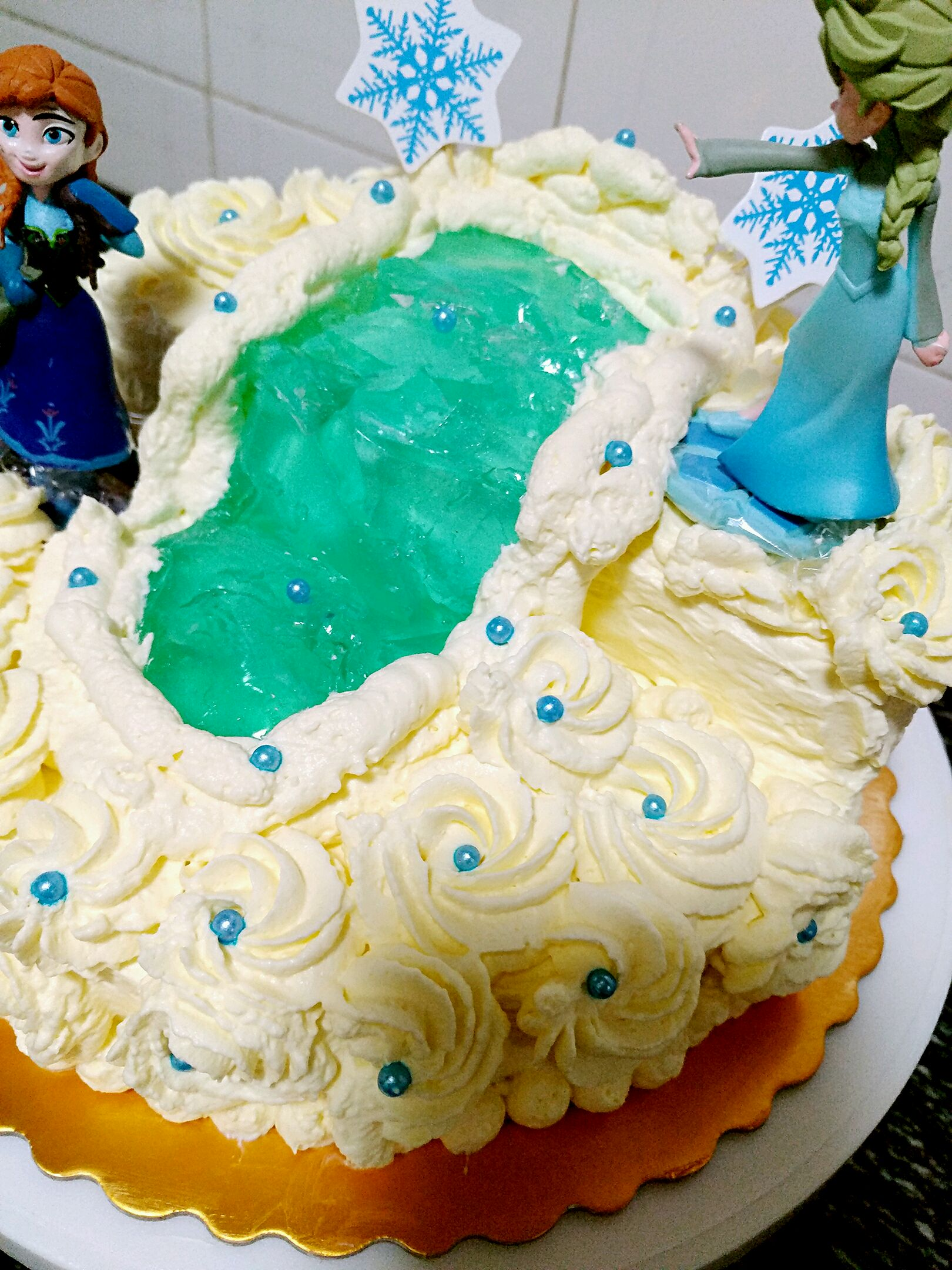 冰雪奇缘主题蛋糕