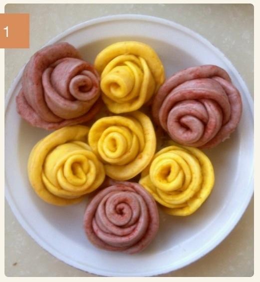 玫瑰花卷的做法步骤