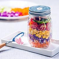 #西西的美食情书#彩虹沙拉瓶子