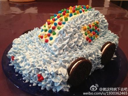 [小汽车蛋糕]的做法图解13