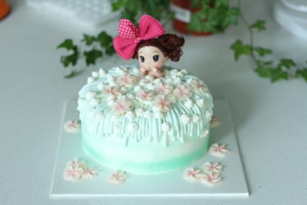 泡泡浴娃娃蛋糕详细制作过程的做法