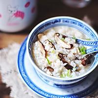 暖胃免熬的 香菇鸡肉粥