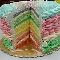 彩虹蛋糕 新手版海绵体(附打发淡奶油)