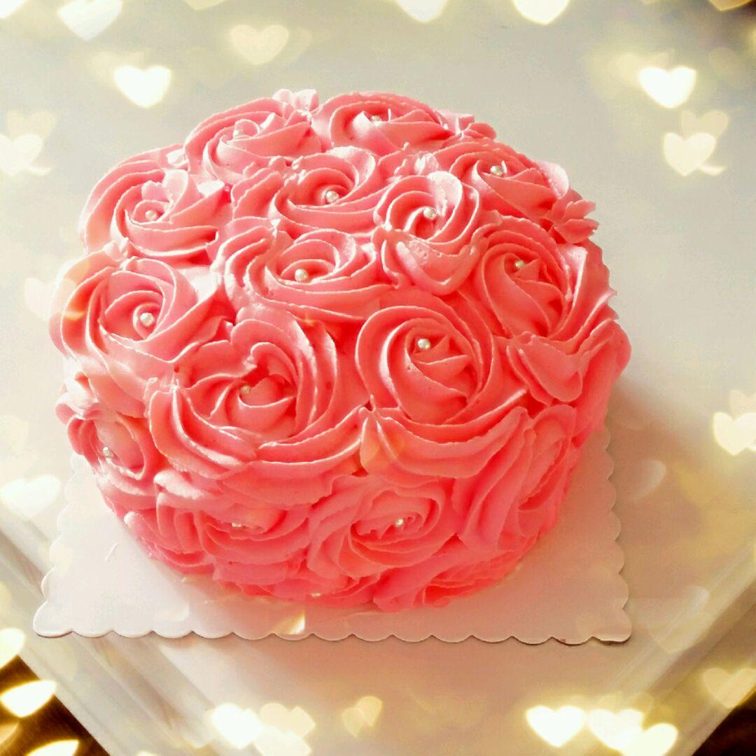 玫瑰花蛋糕的做法图解1