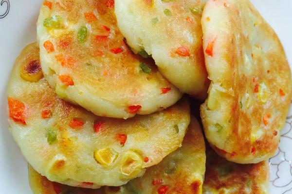 田园土豆饼的做法_【图解】田园土豆饼怎么做如何做