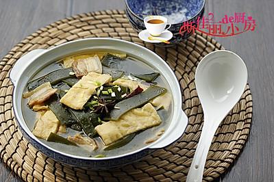 海带油豆腐炖肉