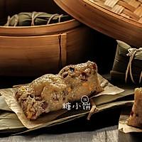 【培根香菇豌豆粽】龙舟形包法2