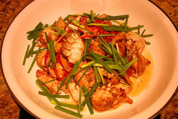 XO酱烧螃蟹的做法