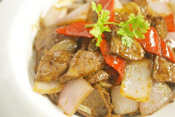 爆炒猪肝丨保持肉质滑嫩的秘诀在这里!【微体兔菜谱】的做法
