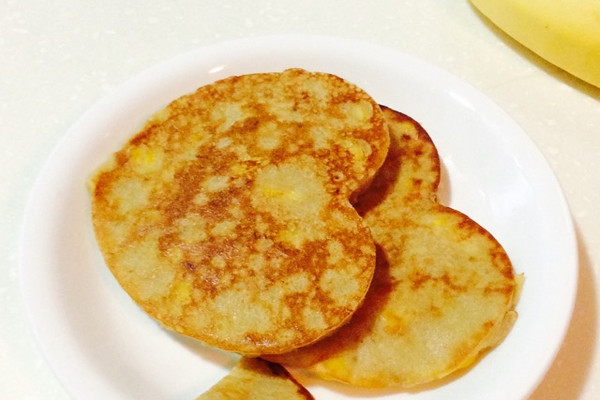 【早餐】香蕉玉米鸡蛋饼的做法_【图解】【早餐】香蕉