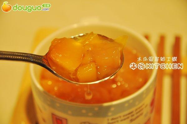 木瓜银耳炖雪蛤的做法