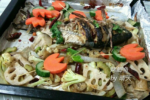 烤箱版烤鲫鱼的做法