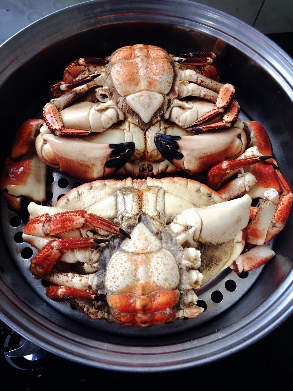 清蒸面包蟹的做法图解1