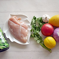 香煎鸡胸肉配芒果莎莎酱#Gallo橄露橄榄油#的做法图解1