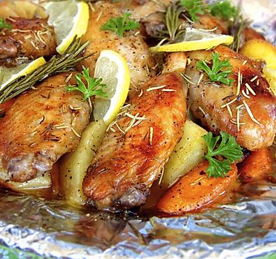 柠檬香草烤鸡翅的做法