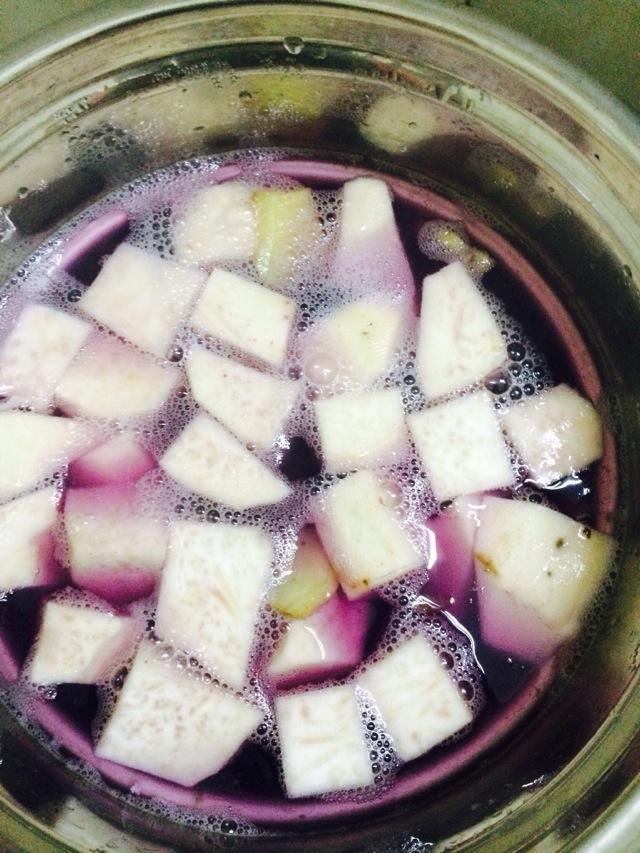 香芋紫薯糖水的做法图解3