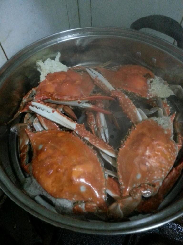 蒸海螃蟹的做法步骤