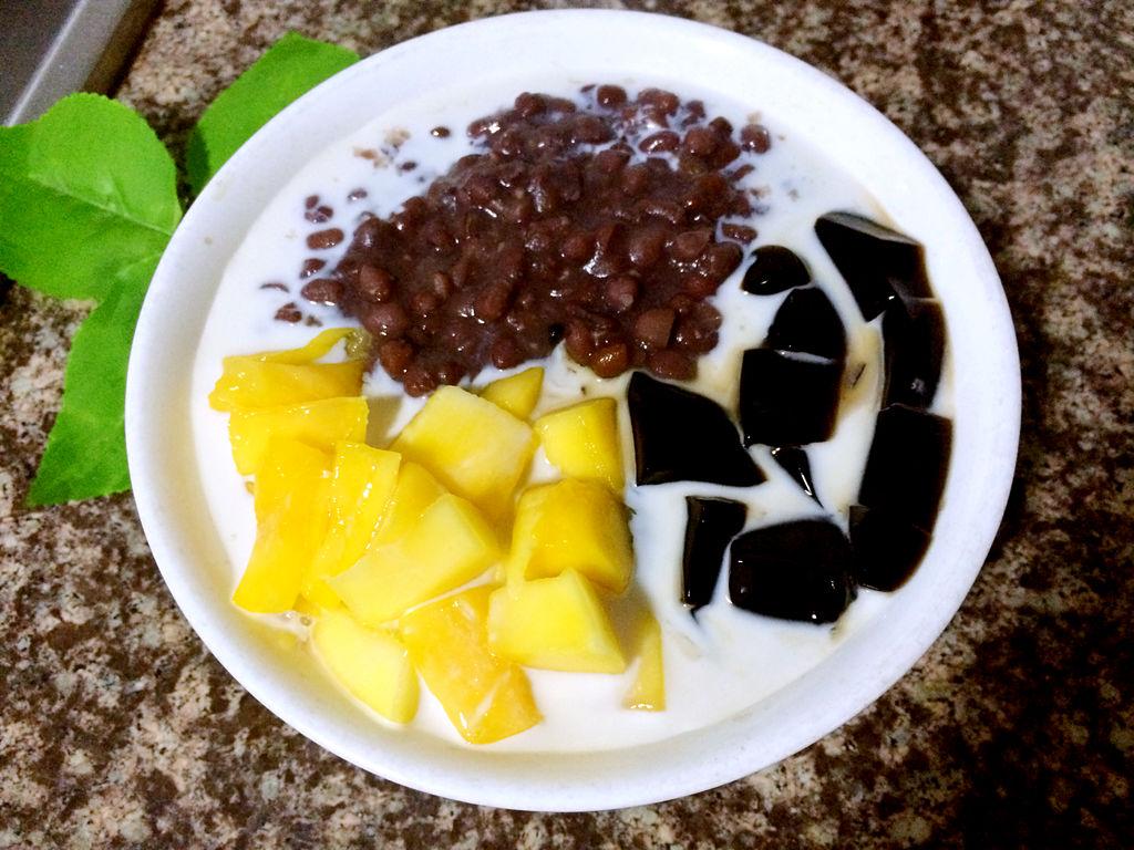 夏季甜品——芒果红豆凉粉的做法_【图解】夏季甜品—