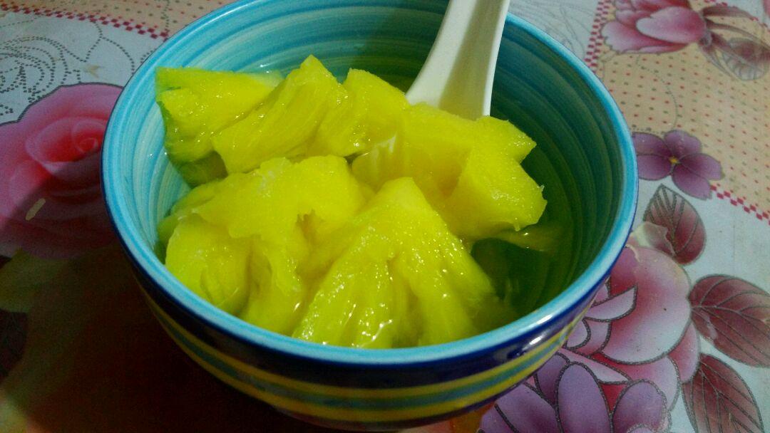 冰糖菠萝的做法图解3